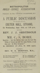 Advert for a meeting at the Exeter Hall
